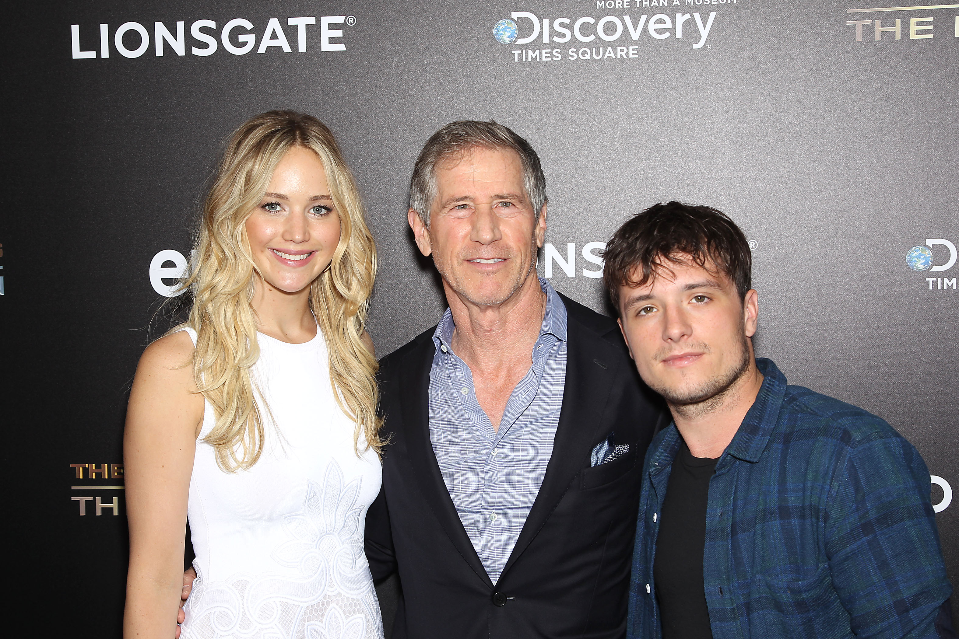 - New York, NY - 6/28/15 - Jennifer Lawrence, Jon Feltheimer (CEO; Lionsgate) and Josh Hutcherson attends the VIP Event Celebrating THE HUNGER GAMES: THE EXHIBITION at The Discovery Times Square Opening on July 1st.   -PICTURED: Jennifer Lawrence, Jon Feltheimer (CEO; Lionsgate) and Josh Hutcherson -PHOTO by: Marion Curtis/Startraksphoto.com -FILENAME: MC_15_28830748.JPG -LOCATION: Discovery Times Square  Startraks Photo New York,  NY For licensing please call 212-414-9464  or email sales@startraksphoto.com Image may not be published in any way that is or might be deemed defamatory, libelous, pornographic, or obscene. Please consult our sales department for any clarification or question you may have. Startraks Photo reserves the right to pursue unauthorized users of this image. If you violate our intellectual property you may be liable for actual damages, loss of income, and profits you derive from the use of this image, and where appropriate, the cost of collection and/or statutory damages.